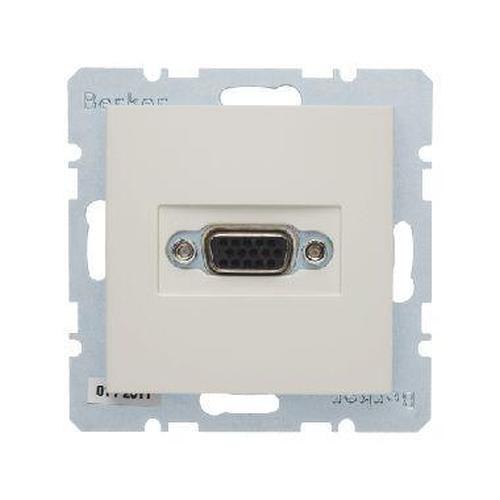 Berker 3315418982 VGA Steckdose mit Schraub-Liftklemmen S.1 Weiß, Glänzend
