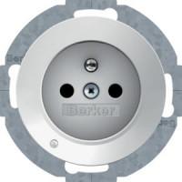 Berker 6765102089 Steckd. m. Schutzko.stift u. LED-Orientierungsl.,erh. Ber.-Schutz R.1/R.3 Pw,Gl.