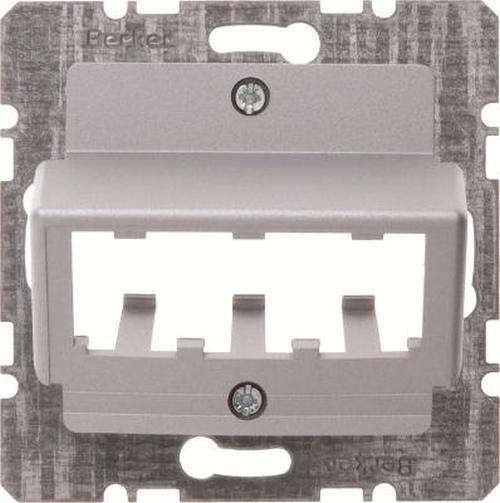 Berker 14271404 Zentralplatte für 3 MINI-COM Module Zentralplattensystem Alu, Matt