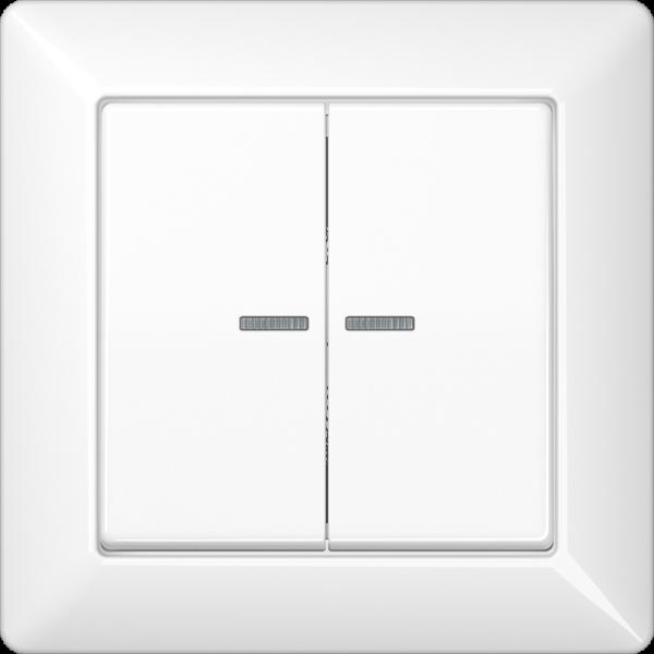 JUNG AS590-5KO5WW Kotroll-Serien-Abdeckung Volle-Platte Alpinweiß