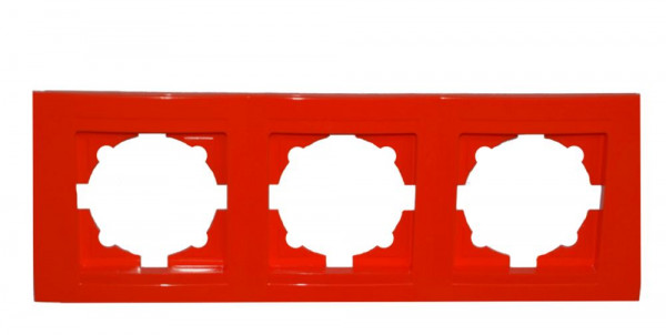 Moderna 3-Fach Abdeckrahmen Rot