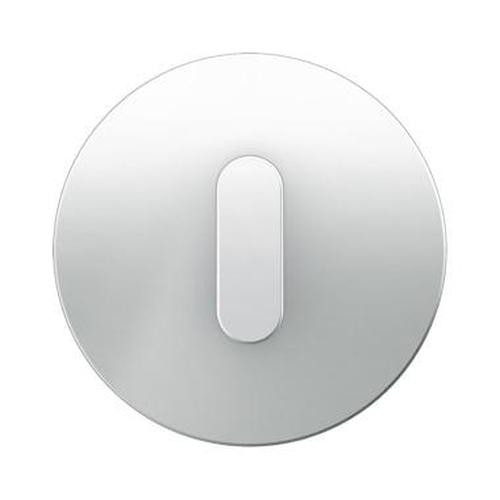 Berker 10012083 Abdeckplatte mit Knebel Serie R.Classic Glas, Polarweiß