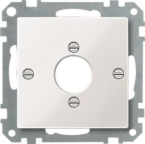 Merten 469019 Zentralplatte für Audio-Stecker XLR Polarweiß-Glänzend