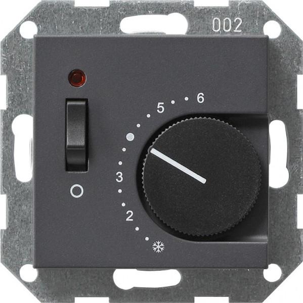 """GIRA 039228 Temperaturregler mit Schalter """"Öffner"""" Anthrazit"""