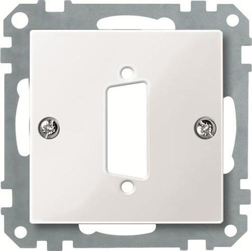 Merten 467719 Zentralplatte für D-Subminiatur-Steckverbinder 15-Polig Polarweiß-Glänzend