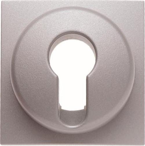 Berker 15071404 Zentralstück für Schlüsselschalter/-taster B.7 Alu, Matt