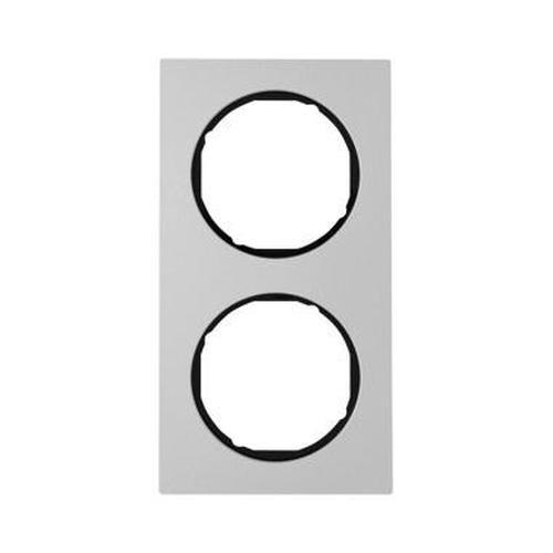 Berker 10122284 Rahmen 2Fach R.3 Alu/Schwarz