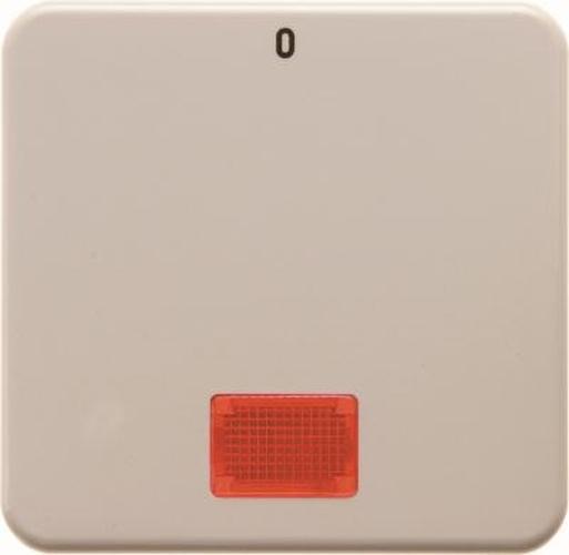 Berker 1558 Wippe mit roter Linse und Aufdruck '0' wg Up IP44 Weiß, Glänzend