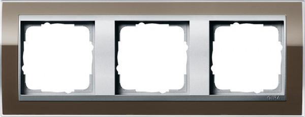 GIRA 0213766 Rahmen 3-Fach Event-Klar Braun/ Farbe-Alu
