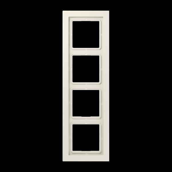 JUNG LSD984W Rahmen 4-Fach LS-Serie Cremeweiß