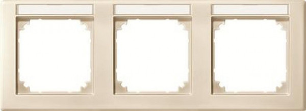 Merten 473344 Rahmen 3-Fach mit Beschriftungsträger waagerechte M-Smart Weiß