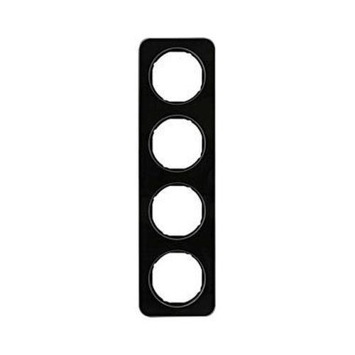 Berker 10142116 Rahmen 4Fach R.1 Glas, Schwarz