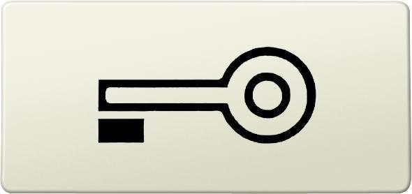 """Merten 395700 Symbol """"Schlüssel""""Weiß"""