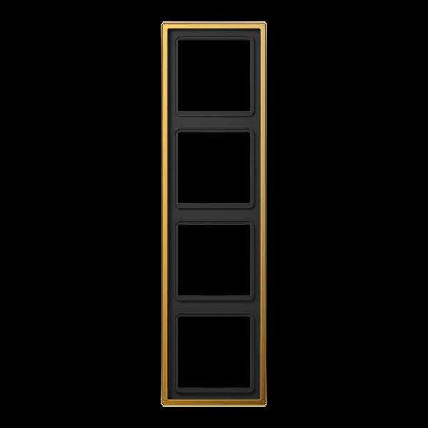 JUNG LS984GGO Rahmen 4-Fach LS-Serie Vergoldet