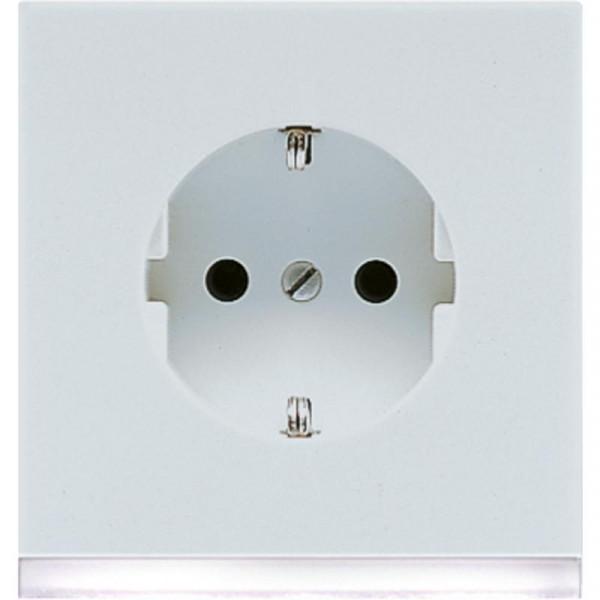 JUNG LS520-OLGLEDW Steckdosen-Einsatz mit LED-Orientierungslicht Lichtgrau