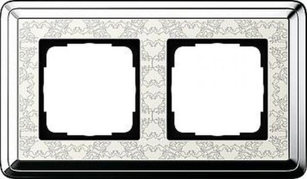 GIRA 0212683 Rahmen 2-Fach ClassicX Art Chrom-Cremeweiß