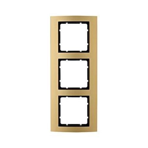 Berker 10133016 Rahmen 3Fach B.3 Alu, Gold/Anthrazit