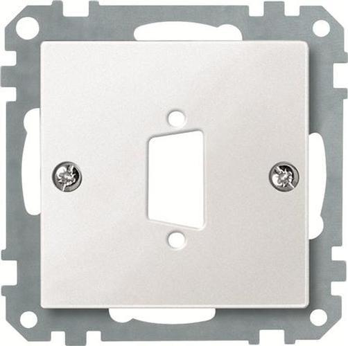 Merten 468119 Zentralplatte für D-Subminiatur-Steckverbinder 9-Polig Polarweiß