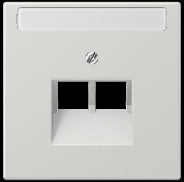 JUNG LS969-2NAUALG Abdeckung UAE/IAE 2-Fach mit Schriftfeld Lichtgrau