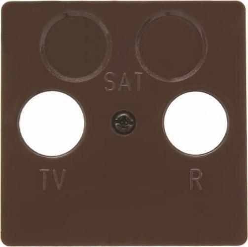 Berker 148601 Zentralplatte für Antennen-Steckdose 2Loch Zentralplattensystem Braun, Glänzend