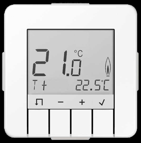 JUNG TRDCD231WW Raumtemperaturregler Standard mit Display Alpinweiß