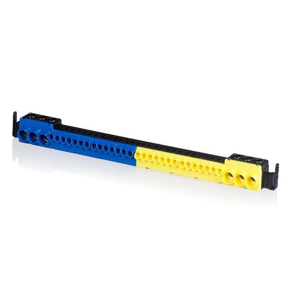 F-Tronic 9910010 PE-N-Steckklemme, 3x25mm² schraubbar und 14x4mm² steckbar