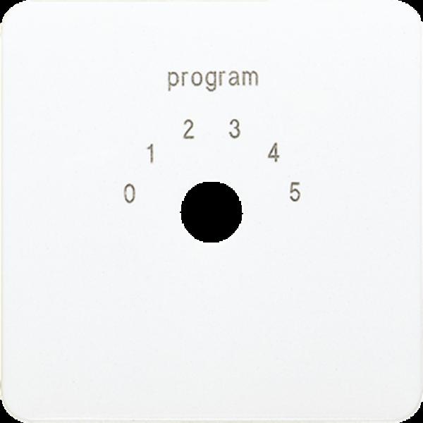 JUNG CD594-9WW Abdeckung für Programmwahlschalter Alpinweiß
