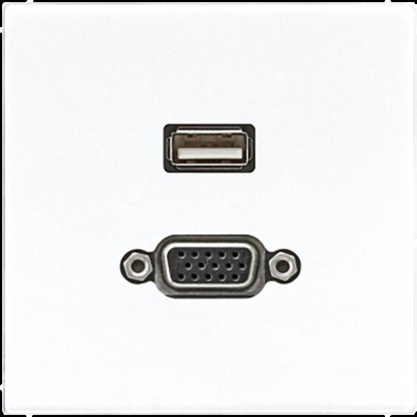 JUNG MALS1183WW USB2.0-VGA Alpinweiß