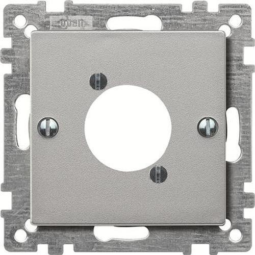 Merten 468960 Zentralplatte für Audio-Steckverbinder XLR Aluminium