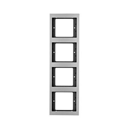 Berker 13437003 K.5 Rahmen 4-Fach Senkrecht Alu