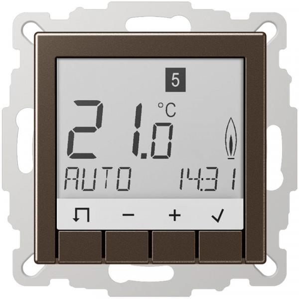 JUNG TRUDA231MO Raumtemperaturregler Universal mit Display Mokka