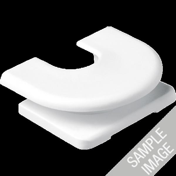 JUNG 11GR Kabel, Rohr und Kanal-Einführungen für Aufputz-Kappen Grau