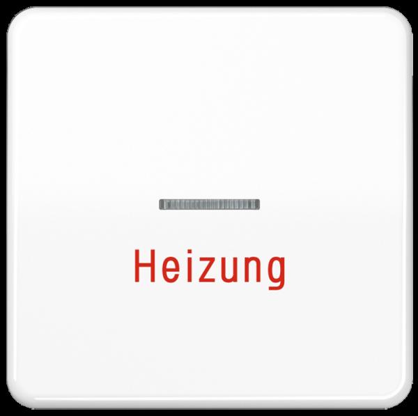 """JUNG CD590HWW Kontroll-Wippe mit Aufschrift """"Heizung"""" Alpinweiß"""