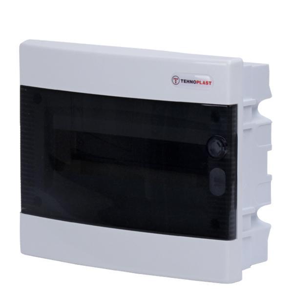 Tehnoplast U12C Unterputzverteiler 1-Reihig 12PLE Tür Transparent