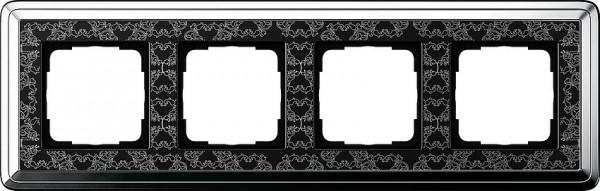 GIRA 0214682 Rahmen 4-Fach ClassicX Art Chrom-Schwarz