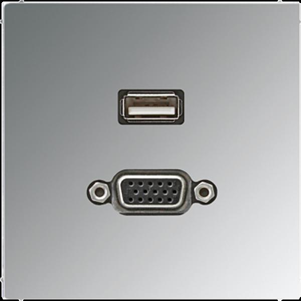 JUNG MAGCR1183 USB2.0-VGA Glanz-Chrom