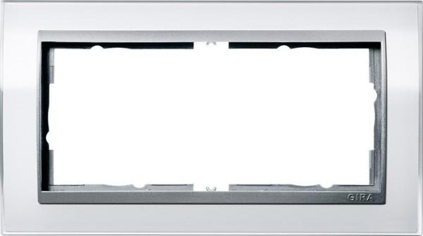 GIRA 1002726 Rahmen 2-Fach E2 ohne Mittelsteg Event-Klar Weiß/ Farbe-Alu