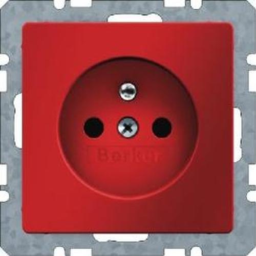 Berker 6768766012 Steckdose mit Schutzkontaktstift mit erhöhtem Berührungsschutz Q.1/Q.3 Rot Samt