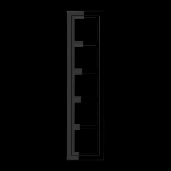 JUNG LSD985SW Rahmen 5-Fach LS-Serie Schwarz