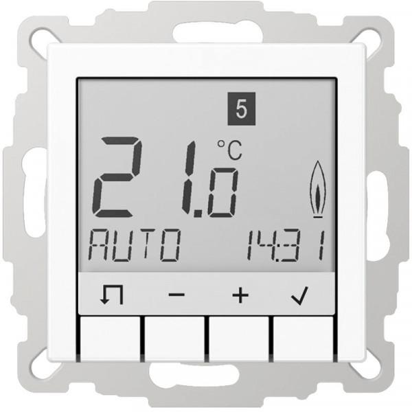 JUNG TRUDA231WW Raumtemperaturregler Universal mit Display Alpinweiß