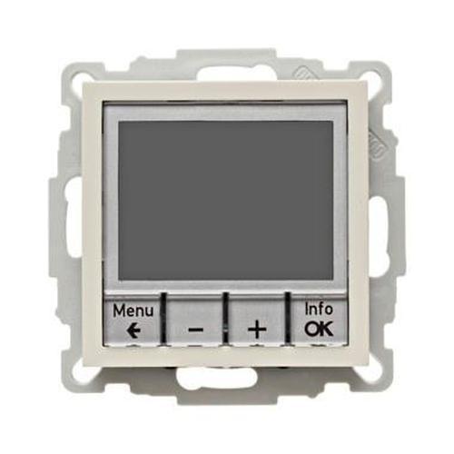 Berker 20448982 Temperaturregler, Schließer, mit Zentralstück, zeitgesteuert S.1 Weiß, Glänzend