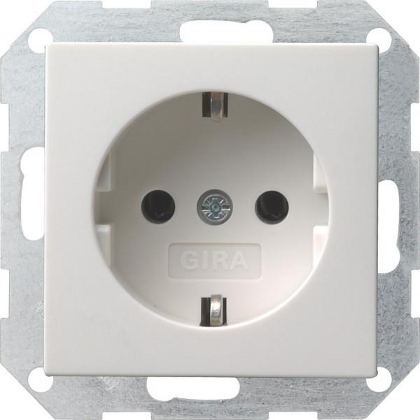 GIRA 018803 Steckdosen-Einsatz Reinweiß-Glänzend