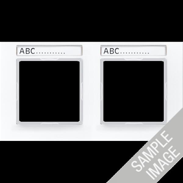 JUNG AC5840BFNAWW Rahmen mit Schriftfeld 4-Fach Alpinweiß