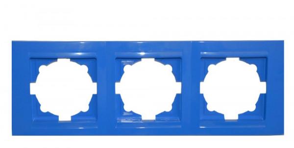 Moderna 3-Fach Abdeckrahmen Blau
