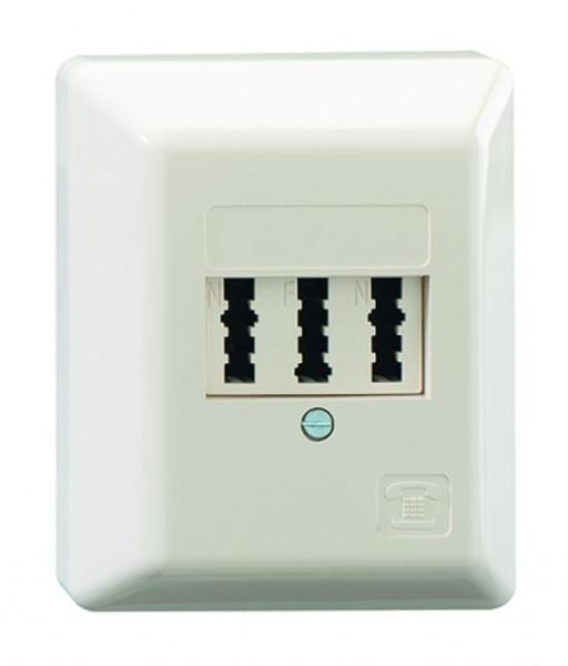 RUTENBECK 10210103 TAE 3x6NFN Telefondose Creme-Weiß