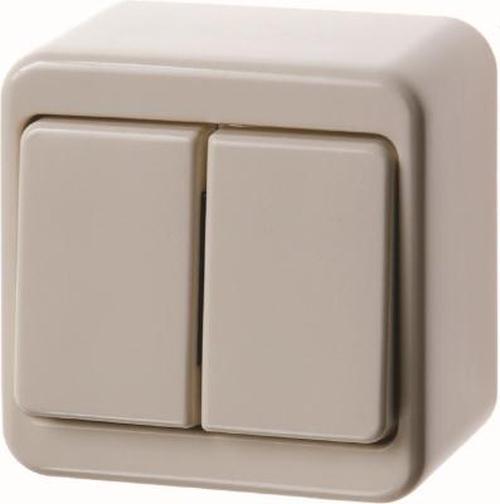 Berker 300540 Serienschalter Aufputz Weiß, Glänzend