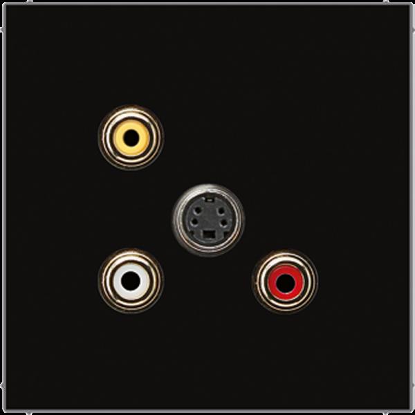 JUNG MALS1051SW Cinch Audio-Composite Video-S-Video Schwarz
