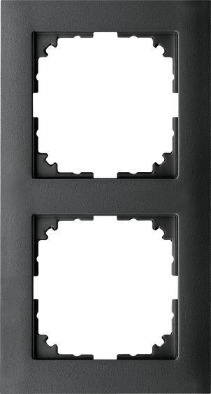 Merten MEG4020-3614 Rahmen 2-Fach M-Pure Anthrazit