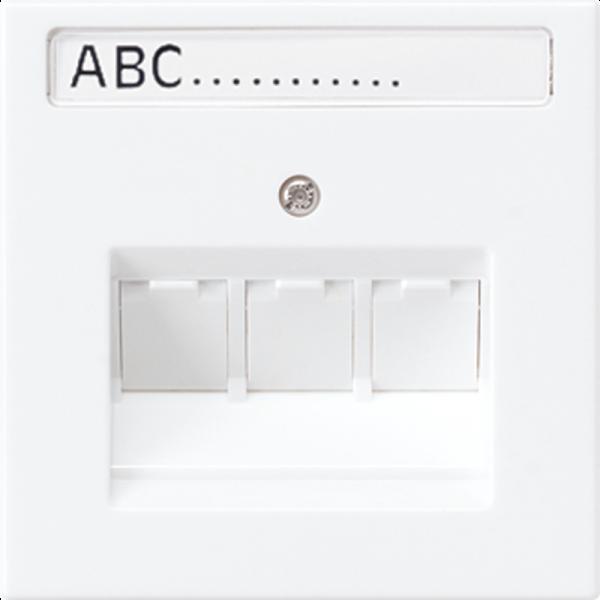 JUNG LS969-3NAUAWW Abdeckung mit Schriftfeld für 3 Universalmodule Alpinweiß