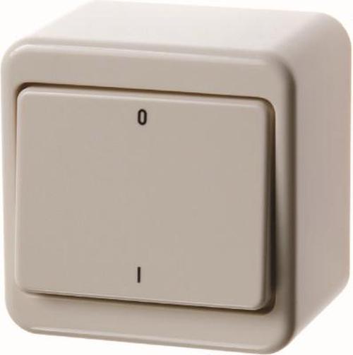 Berker 300340 Wippschalter Aufputz Weiß, Glänzend